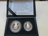 Australia. 1994 1oz & 2oz - Silver Kookaburra Set..  Proof - In Perth Mint Case