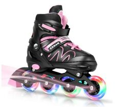 ERNAN Inline Roller Skates,Adjustable Inline Skate for Kids and Adults with Full