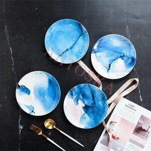 Dessert Plates Salad Cake Dinner Dishes Ceramic Breakfast Porcelain Tableware