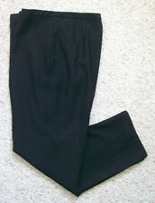 Womens Dressbarn Lined Pants Front Pleats 14 Black Rayon Polyester