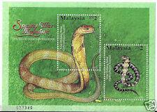 Souvenir Sheet - MALAYSIA (2002) - Species of Snakes MS (MNH)