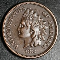1873 INDIAN HEAD CENT - With LIBERTY & DIAMONDS - XF EF