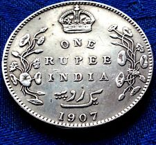 MONNAIE ANCIENNE ARGENT ONE RUPEE EDWARD VII KING & EMPEROR INDIA 1907 SILVER