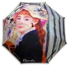 "Renoir ""Girl with fan"" painting long size auto umbrella"