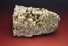 Smoky Quartz and Microcline Crystals In Matrix Vug-Moat Mountain New Hampshire