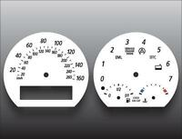 2002-2008 BMW Z Series Z4 E85 E86 Dash Instrument Cluster White Face Gauges
