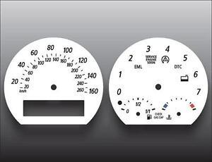 2002-2008 BMW Z Series Z4 E85 E86 Dash Instrument Cluster White Face Gauges