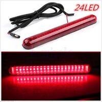 24 LED 12V Universal Car High Mount Third 3RD Brake Stop Tail Light Lamp Red GW