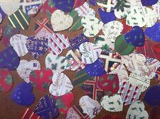 100 Heart embellishments christmas card making scrapbooking crafts mixed colours