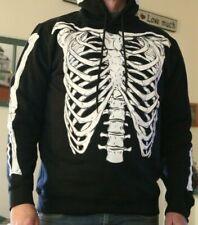Skeleton Sweater Hoodie Forever 21 S M L XL Halloween Black Unisex