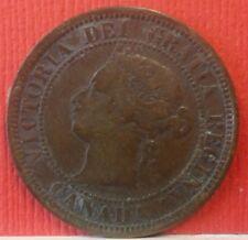1876 H Queen Victoria One Cent Canada KM#7  B-219