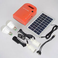 Small Solar Power System With Mobile Phone Charging Camping Led Emergency Lights