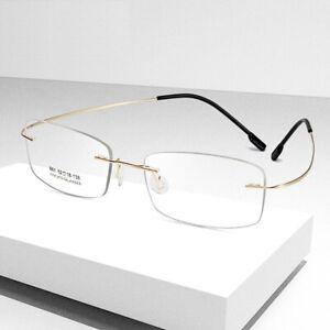 Herren Damen Brillengestelle Titanlegierung Leicht Brillenfassungen Rx-fähig