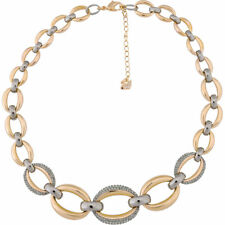 NIB$299 Swarovski Circlet  Necklace Rose Gold & Ruthenium Plated #5153380
