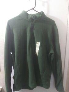 NWT Men's Green Lightweight Fleece Zip-up Jacket Size Large