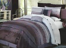 New daisy fuentes Ombre Lace Collection QUEEN Comforter Set - 4PC