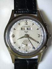 Antique Ed. Heuer Triple Date Bumper Automatic Watch