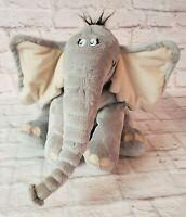 """Dr Seuss 14"""" Plush Horton Hears A Who Macys 2008 Stuffed Elephant No Sound"""
