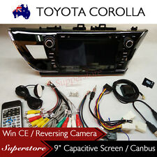 "9"" Car DVD GPS Head Unit Stereo Radio Nav TOYOTA COROLLA RHD 2014-2016"