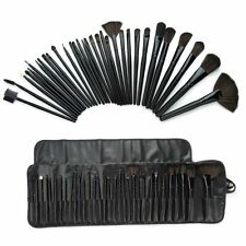 24 piece Professional Brush Set with Case Travel Makeup Brush Fan Finest Quality