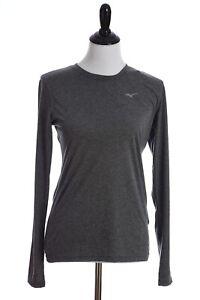 Mizuno Inspire 3.0 Long Sleeve Drylite Athletic Shirt Womens Medium Gray