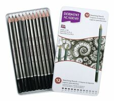 Derwent Academy Sketching Pencils 12 Tin Set - Graphite 6B - 5H
