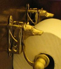 ITALIAN GREYHOUND Bronze Toilet Paper Holder OR Paper Towel Holder!