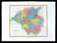 1839 Allan Bell Atlas Map - Germany in Circles - Saxony Bavaria Austria Bohemia