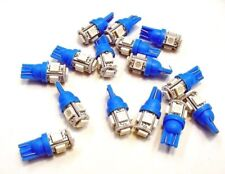 15 BRIGHT Blue 5 LEDs Side Marker License Plate Clock Lights Bulbs For Imports