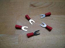 50 Gabelkabelschuhe rot, M 4 Kabelschuhe für Kfz, Elektrik und Elektronik