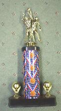male dual action Basketball trophy theme column ball trims