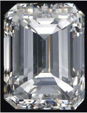 22 ct Emerald Cut Vintage Russian  C Z Imitation Moissanite Simulant 20 x 15 mm