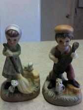 Vintage Bisque Boy & Girl Figurines Set Handpainted Korea