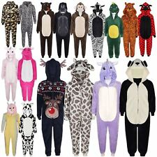 Kids Girls Boys Soft Fluffy Animal Monkey A2Z Onesie One Piece Xmas Gift 2-13 Yr