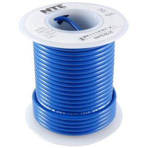 NTE WH16-06-25 Hook Up Wire 300V Stranded Type 16 Gauge 25 FT BLUE