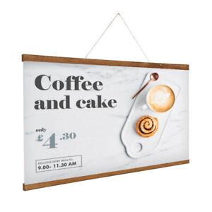 wooden poster hanging hanger bar 30cm 40cm 60cm