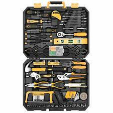 Construction Hand Tool Kit 168 Piece Mixed Set Auto Repair Toolbox Storage Case