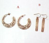 925 Sterling Plain Silver Jewelry Handmade Rose Gold Plated Designer Earring