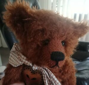 Barnaby - Hyland Bears artist bear - mohair - comes with tag and calico bag