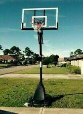 "Spalding Nba 54"" Portable Angled Basketball Hoop Rim System Adjustable Backboard"