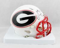 Sony Michel Signed Georgia Bulldogs AMP Speed Mini Helmet - Beckett Auth *Black