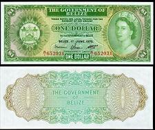 BELIZE 1 DOLLAR (P33b) 1975 QEII UNC