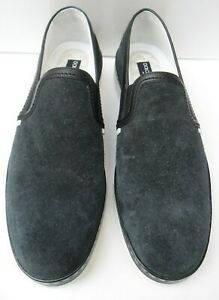 Mens Dolce & Gabbana Navy Blue Suede Slip On Shoes - Size UK 10 RRP £375