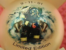 CHRISTMAS ORNAMENT BALL 9-11 FIREFIGHTER TWIN TOWER WORLD TRADE CENTER LIMITED