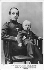 POSTCARD   ROYALTY    SPAIN   King  Alfonso  with  His  Son