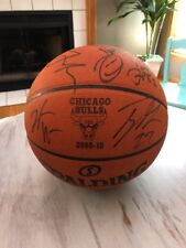Chicago Bulls Team Signed Game Ball 2009 2010 Rose Noah Hinrich Gibson Deng