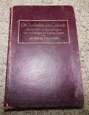De ARTIKELEN DES GELOOFS 1913 Articles of Faith by James Talmage LEATHER Mormon