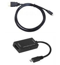 MicroUSB Micro USB HDMI MHL Cable Adapter Tablet Smart Phone HDTV TV Android