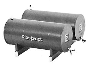Plastruct # 1014 Twin Bulk Oil Storage Tank Kit  HO MIB