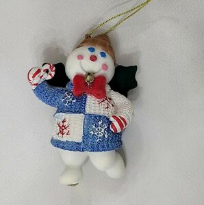 2003 Mr Bingle Snowman Resin Christmas Tree Ornament New Orleans Holiday Icon